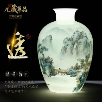Jingdezhen ceramics hand-painted vases furnishing articles sitting room of new Chinese style flower arranging Nordic home wine decorative arts and crafts