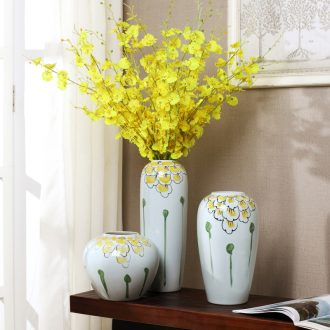 Contemporary and contracted sitting room of jingdezhen ceramic furnishing articles home decoration dry flower flower vase wine porch decoration