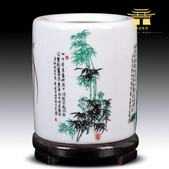 Archaize of jingdezhen ceramics powder wariety pen container creative study adornment fashion office furnishing articles teacher's day gifts