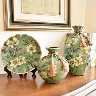 Murphy rural retro three-piece ceramic vase artical sitting room porch soft adornment handicraft furnishing articles