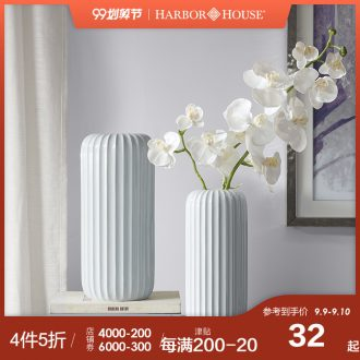 Harbor House, contracted and contemporary ceramic vase household act the role ofing is tasted the sitting room porch furnishing articles Flor dried flower decoration