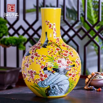 Jingdezhen ceramics vases, flower arrangement sitting room porch decoration of Chinese style household TV ark place wedding gift