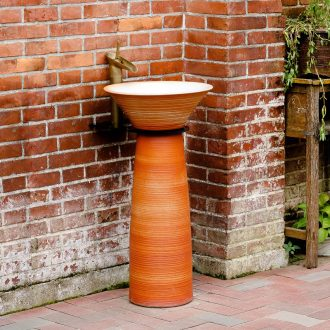 Pillar lavabo ceramics basin balcony landing integrated basin washing a face, antique art column column restoring ancient ways the basin that wash a face