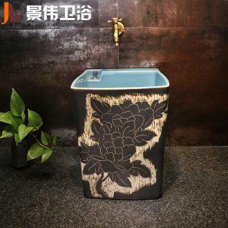 JingWei mop pool household balcony floor mop pool ceramic mop pool to drag ChiChi mop pool