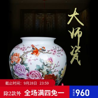 Jingdezhen ceramic Chinese painting of flowers and vase new Chinese style to decorate sitting room ground art hotel gulp of TV ark