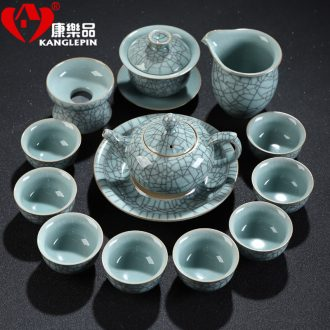 Recreational products sharply stone atomization suit household longquan celadon kung fu tea tray tea sets tea ceramic teapot teacup
