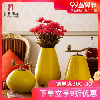 Jingdezhen ceramic vases, the sitting room the bedroom small yellow mouth porcelain table porch decoration furnishing articles example room