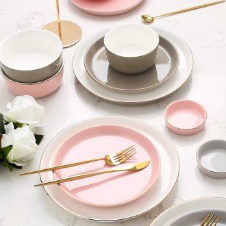 [directly] Nordic phnom penh dish suit household chopsticks tableware jingdezhen ceramic bowl dish alone but beautiful