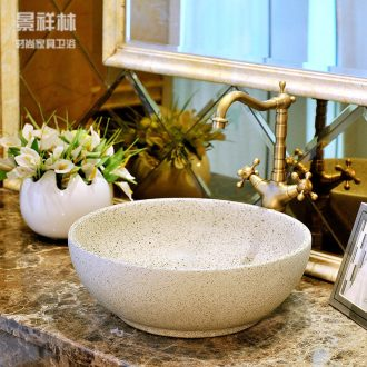 Sinks ceramic art monochrome frosted lavatory basin of continental circular toilet lavabo stage basin