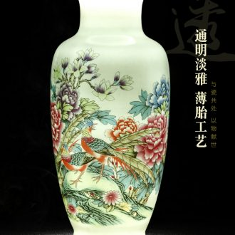 Jingdezhen ceramic vase Chinese penjing dried flower arranging flowers sitting room adornment antique household porcelain wine accessories