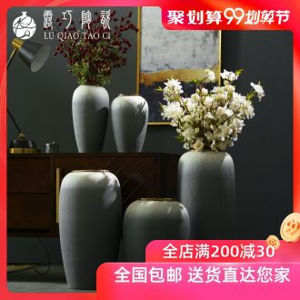 Dew sitting room TV ark opportunely creative home furnishing articles decorative ceramic vase landing simulation flower arranging flowers suit to restore ancient ways