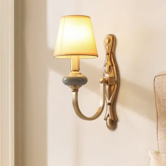 Hilton full copper ceramic wall lamp lights sitting room corridor double wall of bedroom the head of a bed lamp indoor retro contracted