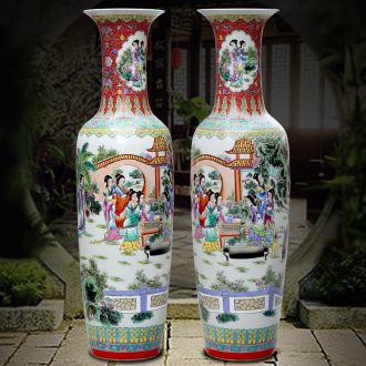 Jingdezhen ceramic hand-painted jinling twelve women of large vase that occupy the home sitting room place adorn article opened the gift