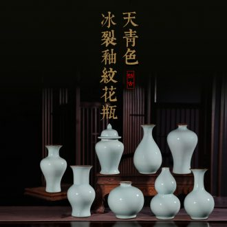 Jingdezhen guanyao elder brother kiln imitation antique pottery and porcelain vase ice crack glaze porcelain vases, general tank decorative furnishing articles