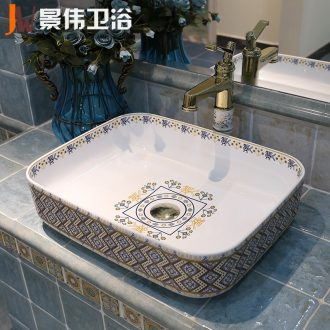 JingWei thickening art of jingdezhen ceramics basin is the basin that wash a face basin stage basin basin sink