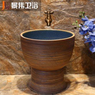 JingWei mop pool ceramic mop pool balcony toilet washing basin drag mop mop pool art restores ancient ways pool