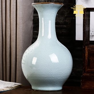 Jingdezhen ceramics vase white archaize crack of the sitting room TV ark wine accessories furnishing articles household act the role ofing is tasted