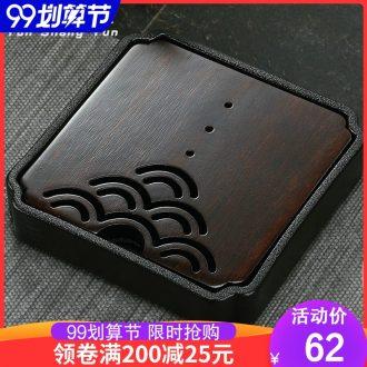 Cloud cloud Japanese ceramic tea tray round saucer dish water household kung fu tea set dry bamboo plate of tea table