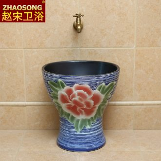 Restoring ancient ways of song dynasty art wash mop pool of household ceramic mop pool outdoor patio outdoor balcony archaize mop pool