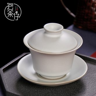 Tea seed your kiln three cup tureen kung fu tea set ceramic ice cracked plate can raise authentic big bowl hand grasp pot