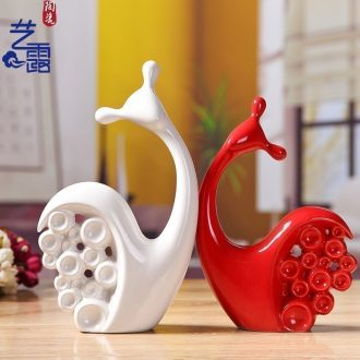 Art contemporary and contracted household adornment furnishing articles sitting room wedding present office ceramic craft housewarming gift