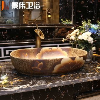 Chinese art on the sink basin square sink archaize lavatory sink industry ceramic wash basin