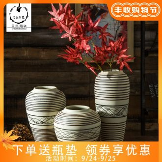 Jingdezhen porcelain vase contemporary and contracted vase furnishing articles sitting room flower arranging dry ceramic vases, new home decoration new Chinese style