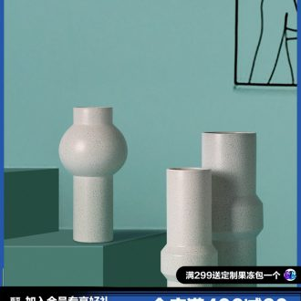 BEST WEST creative ceramic vase furnishing articles of contemporary and contracted sitting room wine dry flower vases, soft adornment