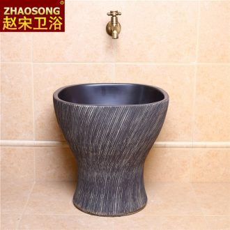 Zhao song conjoined mop pool square large mop basin of Chinese style restoring ancient ways of archaize ceramic mop basin outdoor balcony