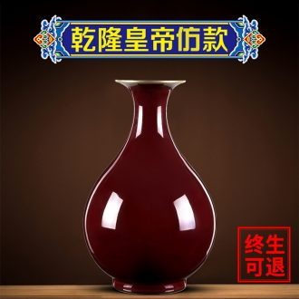 Better sealed kiln archaize ceramic vase furnishing articles sitting room rich ancient frame jingdezhen porcelain porcelain Chinese style restoring ancient ways is red