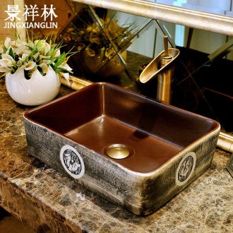Rectangular basin ceramic art basin European contracted lavatory toilet lavabo, hand basin to the stage