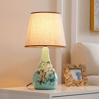 Desk lamp of bedroom nightstand lamp American pastoral sitting room european-style home warm warm light new Chinese style ceramic small desk lamp