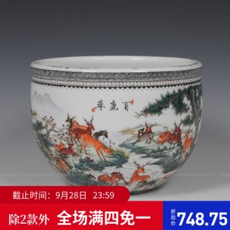 Jingdezhen ceramics hand-painted pastel lohan cylinder home furnishing articles furnishing articles household act the role ofing is tasted creative living room