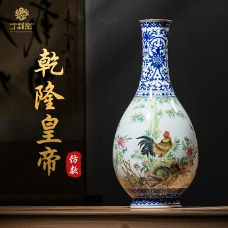 Better sealed kiln jingdezhen home furnishing articles Chinese blue and white porcelain vase water bottle art antique vase household decoration