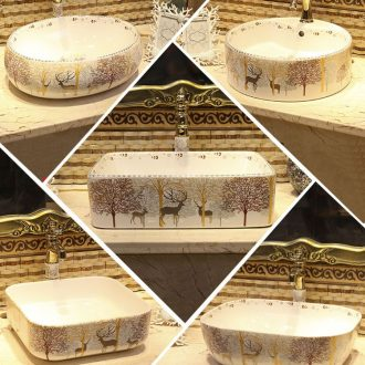 American stage basin to square the sink ceramic wash basin home European toilet stage basin