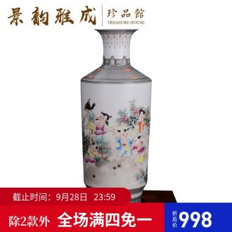 Jingdezhen ceramic hand-painted fashion flower vase new sitting room of Chinese style household soft outfit furnishing articles craft ornaments