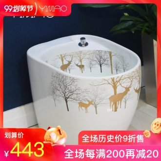 Million birds wash mop pool bathroom balcony ground ceramic POTS mop pool small slot rectangle mop pool mop pool