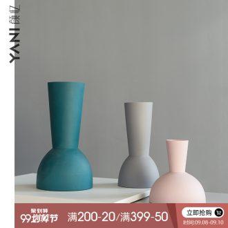 YANI yan yi northern wind vase sitting room dry flower decoration home decoration ceramic creative geometric flower arranging flowers