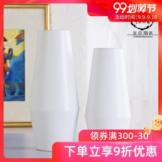 Jingdezhen ceramic vase household adornment is placed the sitting room TV cabinet desk white porcelain of contemporary and contracted