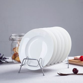 6 pack mail LIDS, jingdezhen ceramic plate of the pure white bone porcelain tableware eight inches deep dish creative dishes food dish