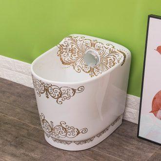 Spring rain ceramic automatic toilet household washing mop mop pool water basin, basin balcony mop pool