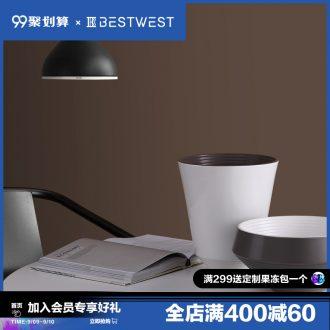 BEST WEST designer ceramic vase is placed between example sitting room soft light porcelain vase luxury decoration