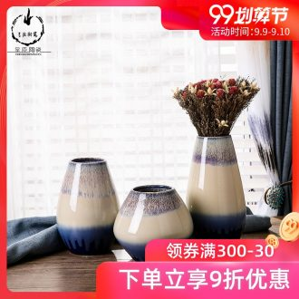Jingdezhen ceramic vase continental sitting room mesa small creative ceramic bedroom furnishing articles furnishing articles in dry flower porcelain