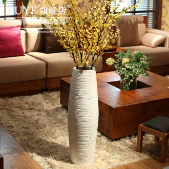 Contemporary and contracted land large white ceramic vase flower arranging dried flowers creative home sitting room large adornment furnishing articles