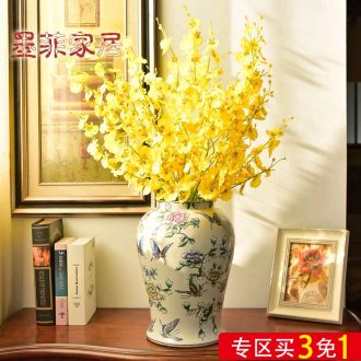 Murphy European new classic atmosphere hand-painted ceramic vase new Chinese style originality bedroom sitting room adornment is placed