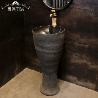 Pillar basin sink ceramic floor balcony outdoor column type lavatory toilet toilet pond