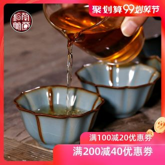 Chrysanthemum patterns your kiln small single open cups can raise archaize master cup ceramic kunfu tea cup personal cup