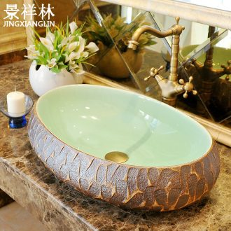 Lavatory art ceramic european-style oblong toilet stage basin basin sink basin on stage