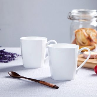 Jingdezhen creative pure white bone porcelain cup contracted Europe type square cup milk cup cup cup coffee cup