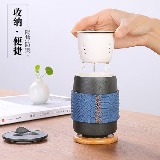 """Japanese ceramic crack cup """"bag type separation receive a home office travel outdoor tea sets tea tea cup"""